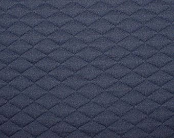 "Navy Blue - Stretch Quilting Fabric Material - Polyester - 150cm (59"") wide, 7 Colours, Diamond Pattern"