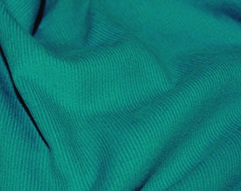 """Teal Blue - Needlecord Cotton Corduroy 21 Wale Fabric Material - 140cm (55"""") wide"""