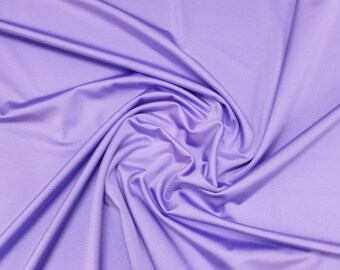 "Lilac - Plain Lycra Spandex Stretch Fabric Material - 150cm (59"") wide per metre / half"