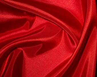 "Red Taffeta Fabric Polyester Material 145cm (57"") Wide"