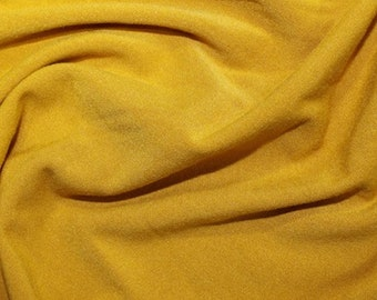 "Mustard Yellow - Plain Brushed ITY Jersey Knit Fabric - 5% Spandex - 150cm (59"") wide"