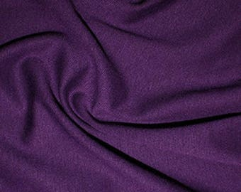 Purple - Ponte Roma Soft Knit Jersey Stretch Fabric Polyester Viscose Fabric 150cm Wide