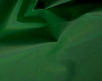 "Bottle Green - Ripstop Fabric - Plain Solid Colours - Material - 59"" (150cm) wide - Rip-Stop Polyester"