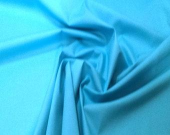 "Peacock - 100% Cotton Poplin Dress Fabric Material - Plain Solid Colours - Metre/Half - 44"" (112cm) wide"