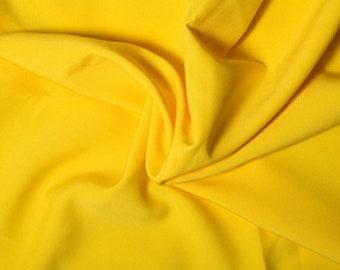 "Yellow - Polyester Bi-Stretch Panama Suiting Dress Fabric - 147cm (58"") Wide"