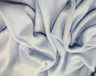 "Pale Blue - Polar Fleece Fabric - Metre/Half - Anti Pil - 59"" (150cm) wide"