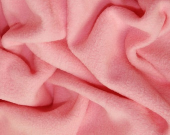 "Pink - Polar Fleece Fabric - Metre/Half - Anti Pil - 59"" (150cm) wide"