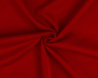 "Wine Red - Plain Scuba Bodycon Jersey Stretch Fabric Material -160cm (63"") wide"