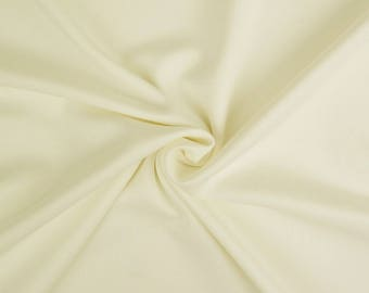 "Ivory - Plain Scuba Bodycon Jersey Stretch Fabric Material -160cm (63"") wide"