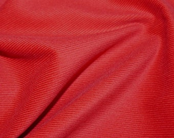 "Red - Needlecord Cotton Corduroy 21 Wale Fabric Material - 140cm (55"") wide"