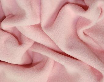 "Pale Pink - Polar Fleece Fabric - Metre/Half - Anti Pil - 59"" (150cm) wide"