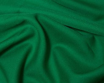 "Emerald Green - Polyester Twill Plain Fabric 150cm (59"") Wide Dressmaking Material"