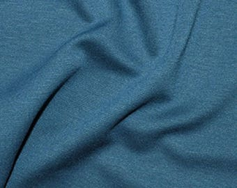Teal Blue - Ponte Roma Soft Knit Jersey Stretch Fabric Polyester Viscose Fabric 150cm Wide