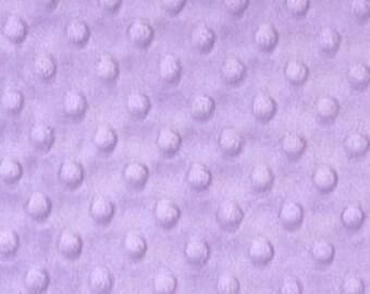 """Lilac - Dimple Dot Popcorn Cuddle Soft Nipple Fleece Fabric - 150cm (59"""") wide - per metre or half metre"""