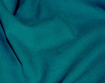 "Teal Blue - Needlecord Cotton Corduroy 21 Wale Fabric Material - 140cm (55"") wide"