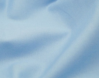 "Blue - 100% Cotton Canvas Fabric - Plain Solid Colour Material - 57"" (146cm) wide"