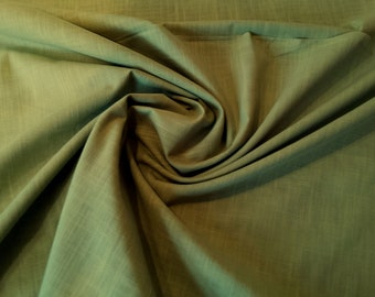 "Khaki - Linen Look 100% Cotton Dress Fabric Material - Metre/Half - 58"" (145cm) wide"