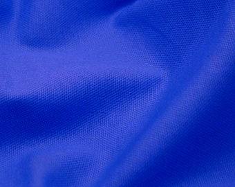 """Royal Blue - 100% Cotton Canvas Fabric - Plain Solid Colour Material - 57"""" (146cm) wide"""