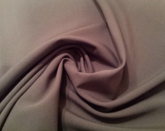 "Grey - Polyester Bi-Stretch Panama Suiting Dress Fabric - 147cm (58"") Wide"