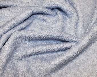 "Blue Bamboo Terry Towelling Fabric - Plain Solid Colours - Towel Material - 150cm (59"") wide"