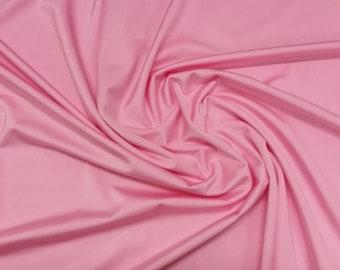 "Pink - Plain Nylon/Spandex All-Way Stretch Fabric Material - 150cm (59"") wide per metre / half"