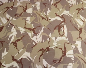"Desert - Camo Camouflage 100% Cotton Drill Fabric - Medium Weight - 150cm (59"") Wide Dress Fabric"