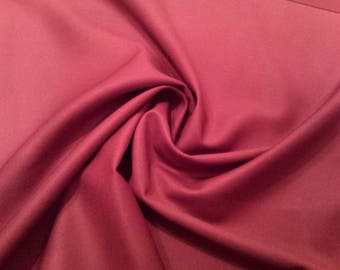 "Wine Red - Plain 100% Cotton Drill Fabric - Medium Weight - 150cm (59"") Wide Dress Fabric"
