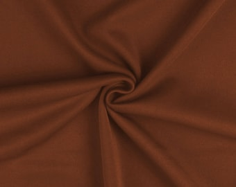"Brown - Plain Scuba Bodycon Jersey Stretch Fabric Material -160cm (63"") wide"
