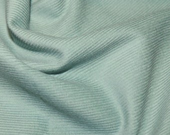 "Mint Green - Needlecord Cotton Corduroy 21 Wale Fabric Material - 140cm (55"") wide"