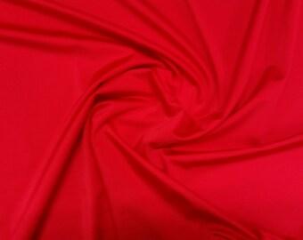 "Red - Plain Nylon/Spandex All-Way Stretch Fabric Material - 150cm (59"") wide per metre / half"