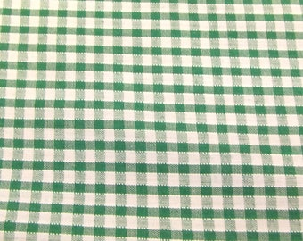 Emerald Green - Corded Gingham - Eighth 1/8 Inch Check - Dress Fabric Material - Metre/Half - 44 inches (112cm) wide
