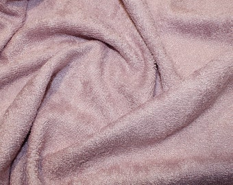 "Rose Bamboo Terry Towelling Fabric - Plain Solid Colours - Towel Material - 150cm (59"") wide"