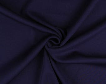 "Navy Blue - Plain Scuba Bodycon Jersey Stretch Fabric Material -160cm (63"") wide"