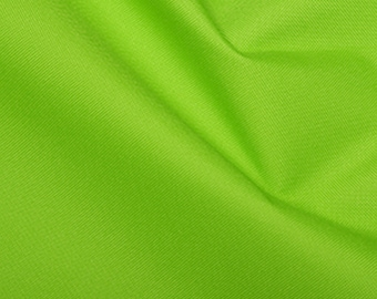 """Lime Green - Soft Water Repellent Polyester PU Coated Fabric - Plain Solid Colours - 57"""" (145cm) wide"""