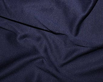 Navy Blue - Ponte Roma Soft Knit Jersey Stretch Fabric Polyester Viscose Fabric 150cm Wide