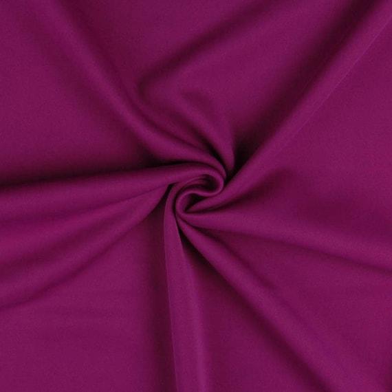160cm wide Cerise Pink Scuba stretch Poly Lycra Fabric//Material
