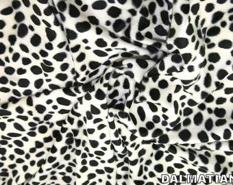"Dalmatian - Animal Print Polyester Velboa Fabric - Metre/Half - Faux Fur Pony Skin 58"" (145cm) wide Velour"