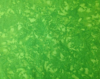 """Lime Green - 100% Cotton Poplin Dress Fabric Material - Marbled Effect - 44"""" (112cm) wide"""