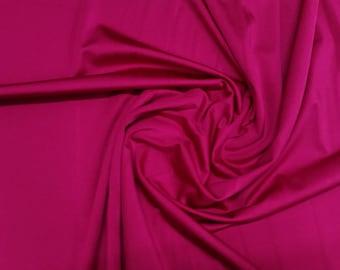 "Magenta Red / Wine - Plain Nylon/Spandex All-Way Stretch Fabric Material - 150cm (59"") wide per metre / half"