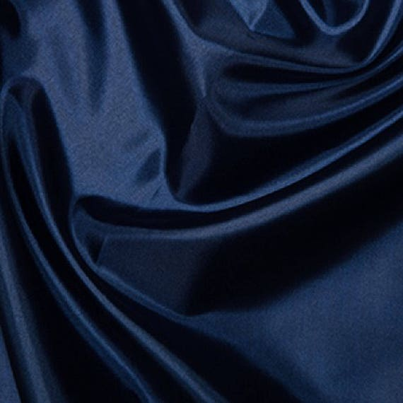 "Habotai Royal Blue Silk Lining Fabric 100/% Polyester  145cm 58/"" wide"