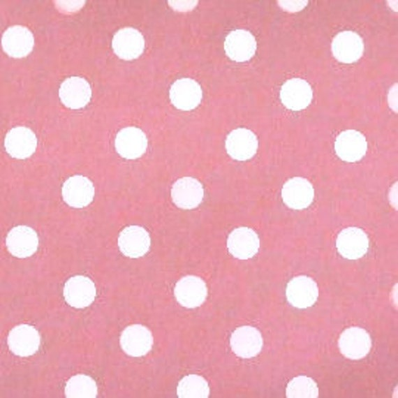 White 100/% Cotton with multi-coloured spot polkadot fabric//material 150cm wide