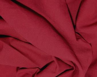 """Wine - Linen Look 100% Cotton Dress Fabric Material - Metre/Half - 58"""" (145cm) wide"""