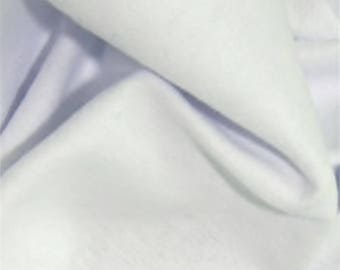 "White - Plain Winceyette Flannelette 100% Brushed Cotton Fabric - 105cm (41"") Wide - per metre or half metre"