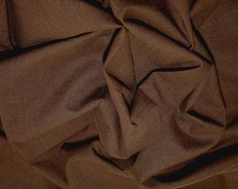 "Brown - Linen Look 100% Cotton Dress Fabric Material - Metre/Half - 58"" (145cm) wide"