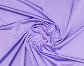 "Lilac - Plain Nylon/Spandex All-Way Stretch Fabric Material - 150cm (59"") wide per metre / half"