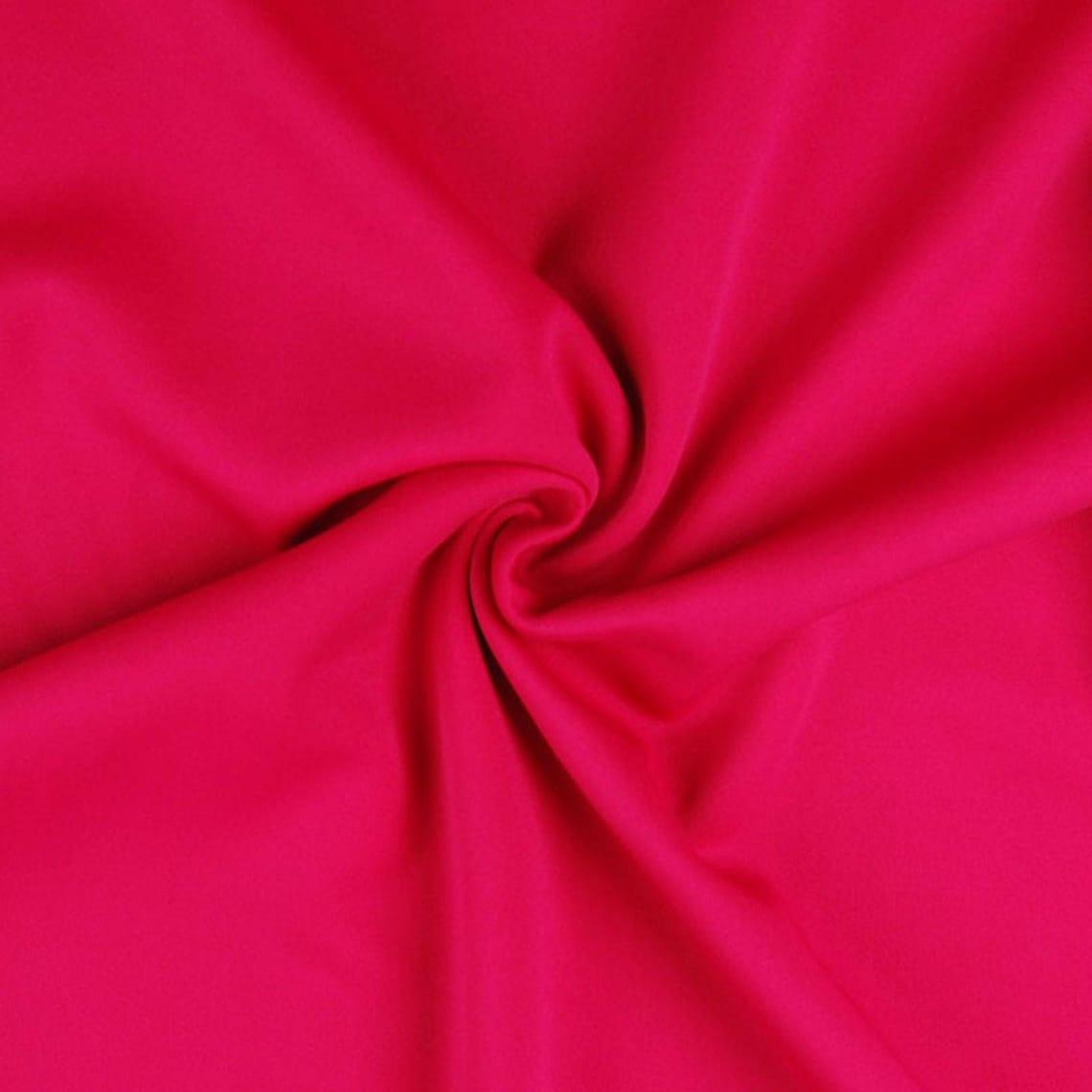 Magenta Purple Plain Scuba Bodycon Jersey Stretch Fabric