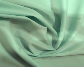 "Mint Green - 100% Cotton Poplin Dress Fabric Material - Plain Solid Colours - Metre/Half - 44"" (112cm) wide"
