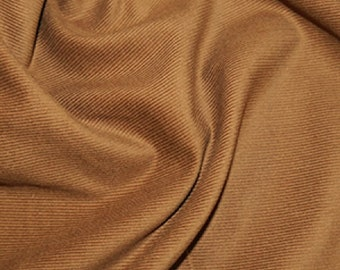 """Brown / Camel - Needlecord Cotton Corduroy 21 Wale Fabric Material - 140cm (55"""") wide"""