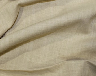 "Tan Brown - Linen Look 100% Cotton Dress Fabric Material - Metre/Half - 58"" (145cm) wide"