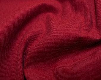 "Wine / Burgundy - Needlecord Cotton Corduroy 21 Wale Fabric Material - 140cm (55"") wide"